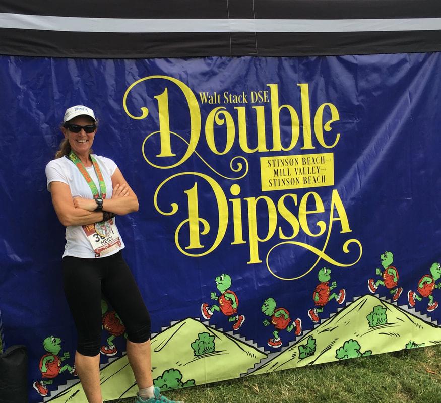 Heidi at the Double Dipsea Race