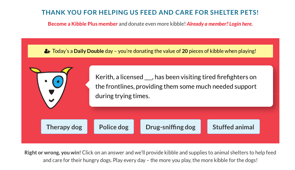 FreeKibble.com Question of the Day