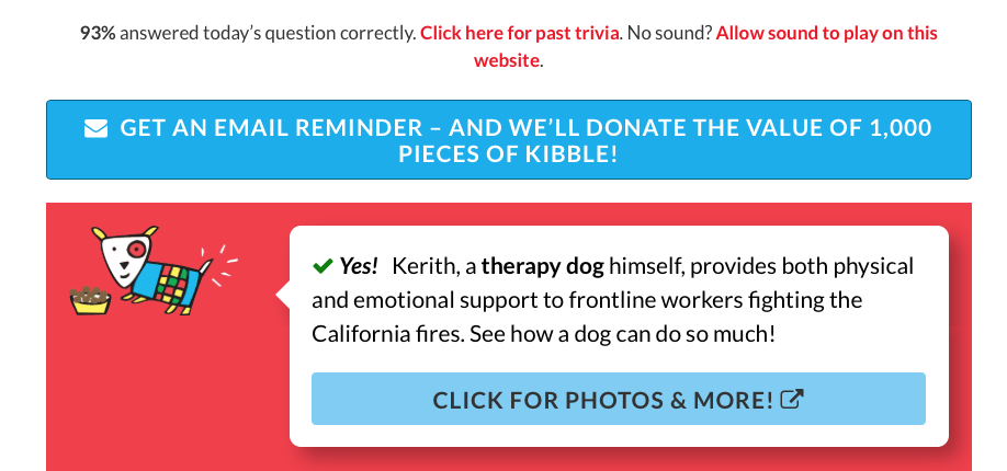FreeKibble.com Question of the Day-Answer